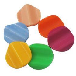 Monedă gaură 26x6 mm 2 mm culoare solidă -50 g ~ 30 buc