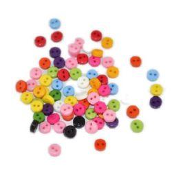Копче пластмаса 6x2 мм дупка 1 мм микс -50 броя