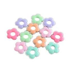 Margele floare solidă 20x5 mm gaură 1,5 mm MIX -50 grame ~ 60 bucăți