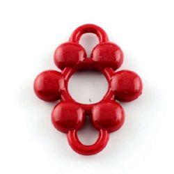 Fixare floare 48x37x7 gaură 7 mm roșu -50 grame ~ 12 bucăți