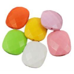 Figurină 20x24x8,5 mm gaură 2 mm culoare solidă -50 g ~ 17 buc