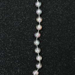 festoon with a ball of plastic 8 mm transparent crack arc -1 meter