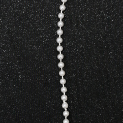 Festoon with pearl plastic  5 mm color white -1 meter