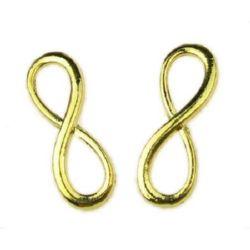 Conectare metal infinit 30x10x2 mm mm culoare aur -2 bucăți