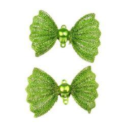 Свързващ елемент метал пандела 21x29x9 мм дупка 1 мм цвят зелен