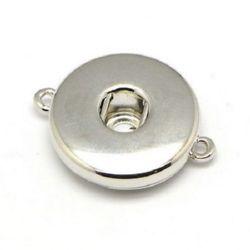 Свързващ елемент Тик-так копче 24x19x6 мм цвят сребро