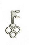 Висулка метална ключ 14.5x8.5x1 мм дупка 2 мм -20 броя