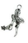 Висулка метална фея 24x15x12 мм дупка 2 мм цвят старо сребро -5 броя