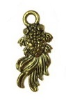Висулка метална риба 18x8x3 мм дупка 2 мм цвят антично злато -10 броя