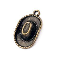 Висулка метална шапка 25x14x5 мм дупка 1.5 мм цвят антик бронз -5 броя