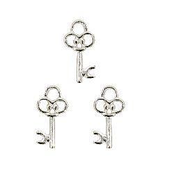 Висулка метална ключ 20x12x2 мм дупка мм цвят бял -20 броя