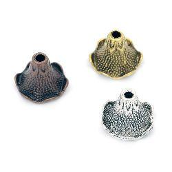 Мънисто метал шапка 18x2 мм дупка 4~13 мм цвят АСОРТЕ
