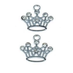 Crown - metal charm  18 x 19 x 3 mm