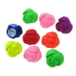 Trandafir pastel 10x8 mm gaură 1 mm culoare electrică -20 grame