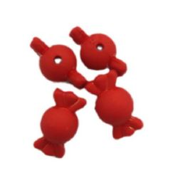 Bomboane mat strânse 21x12 mm roșu -50 grame ~ 37 bucăți