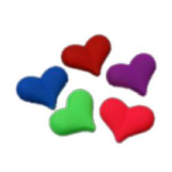 Acrylic heart bead for jewelry making 23x18x10 mm hole 1 mm pastel electric color - 10 pieces ~ 20 grams