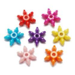 Floare solida luicos 19x17x7x mm gaură 2,5 mm MIX -50 grame ~ 80 bucăți