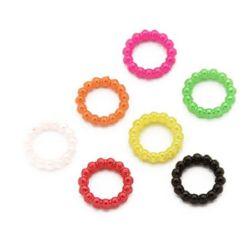 Κύκλος σύνδεσμος απομίμηση μαργαριτάρι 10x2 mm μίξη χρωμάτων -50 τεμάχια