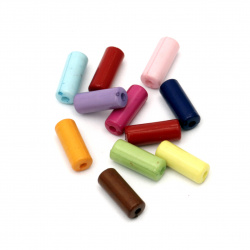 Bead cylinder 13x5 mm hole 1.5 mm color MIX -50 grams ~ 190 pieces