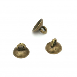 Мънисто плътно шапка/накрайник 10x7 мм дупка 2 мм цвят антик бронз -10 броя