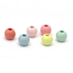 Мънисто плътно топче 13x11.5 мм дупка 4 мм МИКС -50 грама ±45 броя