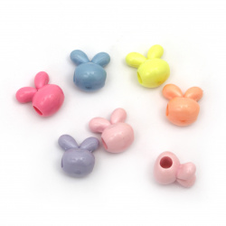 Bead tight rabbit 14.5x15x12 mm hole 4 mm MIX -50 grams ~ 48 pieces