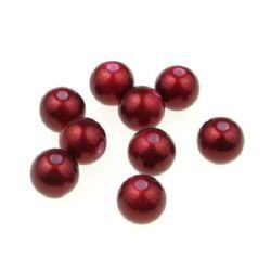 Bilă dens perlat 10 mm gaură 2 mm roșu - 50 grame