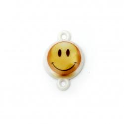 Свързващ елемент усмивка 24x16x3 мм дупка 2 мм -10 броя