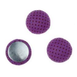 Cabochon gluing bead 18x8 mm purple -5 pieces