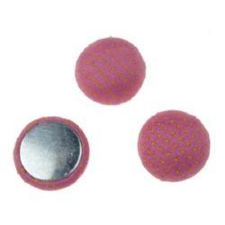 Στρόγγυλη καμπουσόν 18x8 mm ροζ -5 τεμάχια