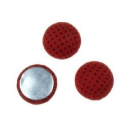 Cabochon gluing bead 18x8 mm red -5 pieces