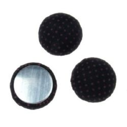 Cabochon gluing bead 18x8 mm black -5 pieces