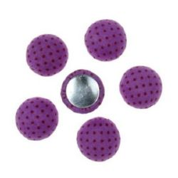 Beads cabochon type for gluing 13x6 mm purple -5 pieces
