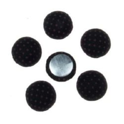 Beads cabochon type for gluing  13x6 mm black -5 pieces