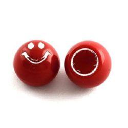 Margele pentru lipirea unui cablu tip zâmbet 12x10 mm roșu -20 bucăți