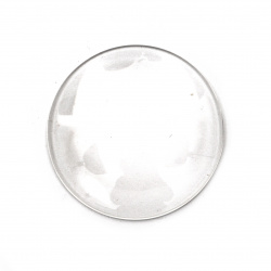 Cabochon Beads for glas, Half Round for Gluing, DIY, Clothes, Jewellery hemisphere 35x7 mm transparent -2 pieces
