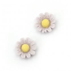 Floare de cauciuc margele  13x5,5 mm culoare violet -10 bucăți