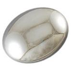 Мъниста плътна с UV покритие овал 23x19x10 мм дупка 3 мм цвят сребро ~14 грама - 5 броя