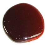Мъниста плътна с черно UV покритие 23x6 мм дупка 2 мм червена -20 гр - 9 броя