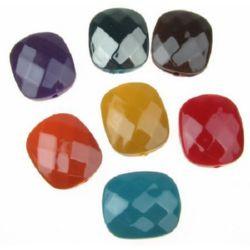 Margele solida negru UV acoperire  24x20x9 mm gaura 2 mm dreptunghi multi-pereti MIX -20 grame ~ 7 bucăți