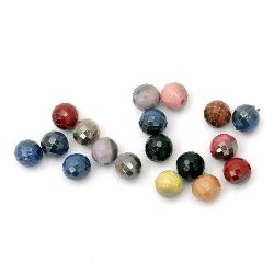 UV plating acrylic coating ball 10 mm hole 1.5 mm faceted mix -20 grams ~ 36 pieces