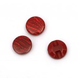 Κουμπί πλαστικό 15x5 mm τρύπα 1 mm κόκκινο -20 τεμάχια