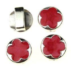 Floare CCB gaură de 17x2 mm 14x4 mm roșu -5 bucăți