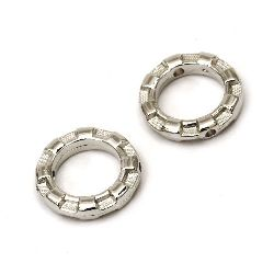 Bead CCB ring 16x3.5 mm hole 1 mm color silver -20 pieces