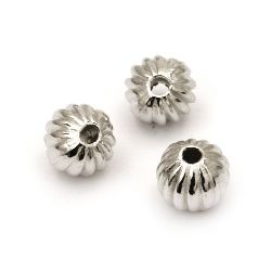 Bead CCB bead orange 8 mm hole 2 mm color silver -50 pieces