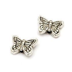 Bead CCB butterfly 15x11x5 mm hole 2 mm color silver -20 pieces