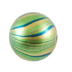 Топче 20 мм дупка 3 мм рисувано с боя зелено светло -11 броя ~50 грама