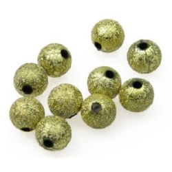 Beads roughly coated bead 10 mm hole 2 mm color gold -20 grams
