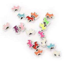 Margele CCB câine 15x11x8 mm gaură 4 mm culoare - 10 bucăți
