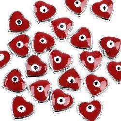Inima CCB gaura de 17x16x6 mm 1 mm roșu -5 bucăți